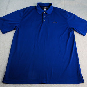 Greg Norman Tasso Elba Play Dry Blue Polo Large